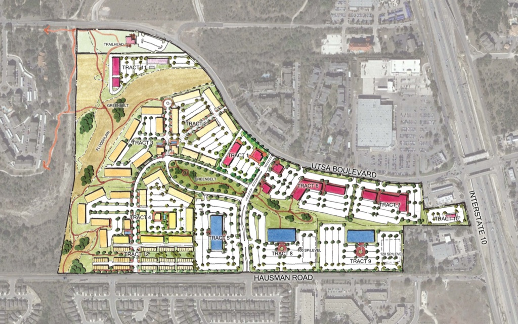 Development plan for 114 acre UTSA Blvd site.