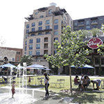 The splash pad at The Pearl